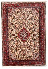 Asadabad Teppich 103X153 Echter Orientalischer Handgeknüpfter Dunkelrot/Beige (Wolle, Persien/Iran)