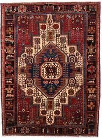 Nahavand Teppe 114X155 Ekte Orientalsk Håndknyttet Mørk Rød (Ull, Persia/Iran)