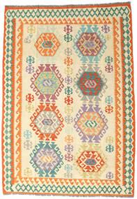 Kilim Afgan Old Style Dywan 176X252 Orientalny Tkany Ręcznie Beżowy/Ciemnobeżowy (Wełna, Afganistan)
