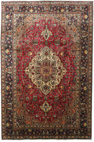 Tabriz Teppe 203X304 Ekte Orientalsk Håndknyttet Mørk Brun/Mørk Rød (Ull, Persia/Iran)