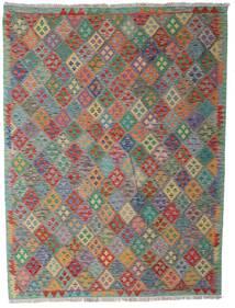 Kilim Afghan Old Style Rug 183X242 Authentic  Oriental Handwoven Light Grey/Dark Grey (Wool, Afghanistan)