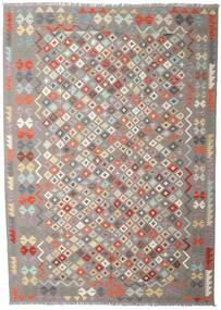 Kelim Afghan Old Style Tæppe 207X290 Ægte Orientalsk Håndvævet Lysegrå/Beige (Uld, Afghanistan)