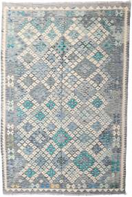 Kilim Afghan Old Style Rug 197X293 Authentic  Oriental Handwoven Light Grey/Beige (Wool, Afghanistan)