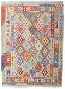 キリム アフガン オールド スタイル 絨毯 181X248 オリエンタル 手織り 薄い灰色/ベージュ (ウール, アフガニスタン)
