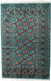 Turkaman Matta 135X203 Äkta Orientalisk Handknuten Svart/Mörkgrå (Ull, Persien/Iran)