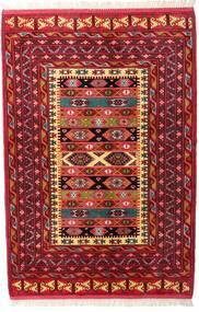 トルクメン 絨毯 136X200 オリエンタル 手織り 深紅色の (ウール, ペルシャ/イラン)