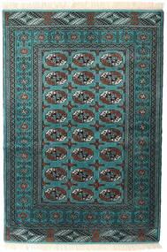 トルクメン 絨毯 135X198 オリエンタル 手織り 濃いグレー/ターコイズ (ウール, ペルシャ/イラン)