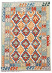 キリム アフガン オールド スタイル 絨毯 123X172 オリエンタル 手織り 薄い灰色/オレンジ (ウール, アフガニスタン)