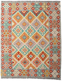 Ćilim Afghan Old Style Sag 158X199 Autentični  Orijentalni Ručno Tkani Svjetlosiva/Bež (Vuna, Afganistan)