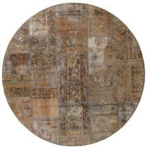 Patchwork - Persien/Iran Alfombra Ø 200 Moderna Hecha A Mano Redonda Marrón/Gris Claro (Lana, Persia/Irán)