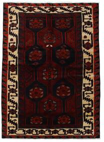 Lori Matta 157X223 Äkta Orientalisk Handknuten Mörkröd (Ull, Persien/Iran)