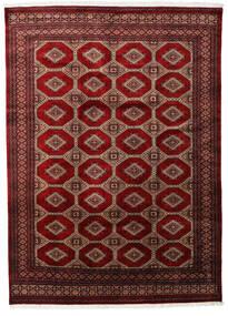 パキスタン ブハラ 3Ply 絨毯 201X279 オリエンタル 手織り 深紅色の/濃い茶色 (ウール, パキスタン)
