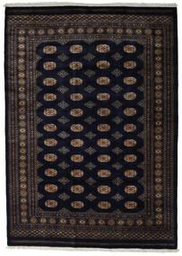 パキスタン ブハラ 3Ply 絨毯 175X245 オリエンタル 手織り 黒/濃い茶色 (ウール, パキスタン)