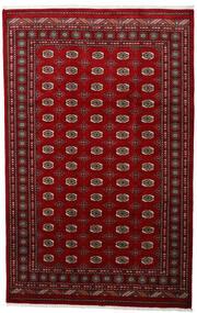 パキスタン ブハラ 3Ply 絨毯 199X315 オリエンタル 手織り 深紅色の/赤 (ウール, パキスタン)