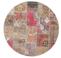 Patchwork - Persien/Iran Koberec Ø 150 Moderní Ručně Tkaný Oválný Hnědá/Světle Šedá (Vlna, Persie/Írán)