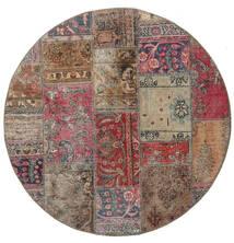 Patchwork - Persien/Iran Alfombra Ø 150 Moderna Hecha A Mano Redonda Gris Claro/Marrón (Lana, Persia/Irán)