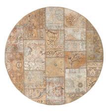 Patchwork - Persien/Iran Tæppe Ø 150 Ægte Moderne Håndknyttet Rundt Lysegrå/Brun (Uld, Persien/Iran)