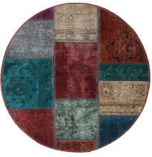 Patchwork - Persien/Iran Tappeto Ø 100 Moderno Fatto A Mano Rotondo Rosso Scuro/Blu Scuro (Lana, Persia/Iran)