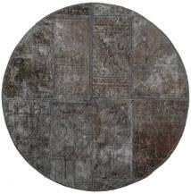 Patchwork - Persien/Iran Alfombra Ø 100 Moderna Hecha A Mano Redonda Gris Oscuro (Lana, Persia/Irán)
