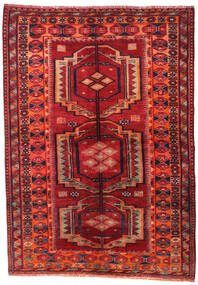 Lori Rug 158X223 Authentic  Oriental Handknotted Dark Red/Rust Red (Wool, Persia/Iran)