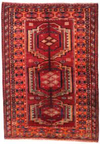 Lori Matta 158X223 Äkta Orientalisk Handknuten Mörkröd/Roströd (Ull, Persien/Iran)