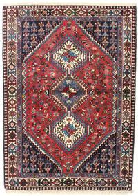 Yalameh Tapis 107X152 D'orient Fait Main Marron Foncé/Beige (Laine, Perse/Iran)