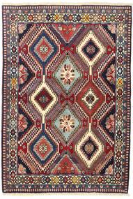 Yalameh Tapis 102X153 D'orient Fait Main Rouge Foncé/Violet Foncé (Laine, Perse/Iran)