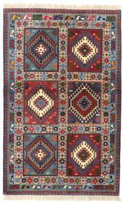 Yalameh Teppe 82X130 Ekte Orientalsk Håndknyttet Mørk Rød/Mørk Blå (Ull, Persia/Iran)