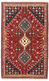 Yalameh Tapis 83X135 D'orient Fait Main Rouge Foncé/Marron Foncé (Laine, Perse/Iran)