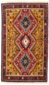 Yalameh Dywan 82X140 Orientalny Tkany Ręcznie Ciemnoczerwony/Ciemnobrązowy (Wełna, Persja/Iran)
