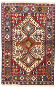 Yalameh Teppe 83X128 Ekte Orientalsk Håndknyttet Mørk Rød/Svart (Ull, Persia/Iran)