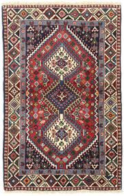 Yalameh Dywan 82X130 Orientalny Tkany Ręcznie Ciemnoczerwony/Beżowy (Wełna, Persja/Iran)