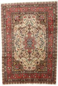 Tabriz Teppe 207X298 Ekte Orientalsk Håndknyttet Mørk Brun/Lysbrun (Ull, Persia/Iran)