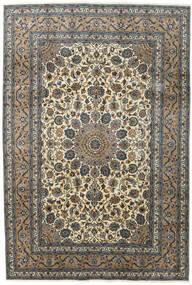 Kashmar Tapis 197X292 D'orient Fait Main Gris Foncé/Gris Clair (Laine, Perse/Iran)