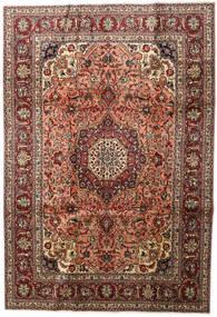 Tabriz Teppe 200X291 Ekte Orientalsk Håndknyttet Mørk Brun/Lysbrun (Ull, Persia/Iran)