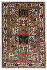 Sarough Teppe 110X160 Ekte Orientalsk Håndknyttet Mørk Brun/Beige (Ull, Persia/Iran)