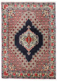 Senneh Tapis 123X172 D'orient Fait Main Noir/Beige Foncé (Laine, Perse/Iran)