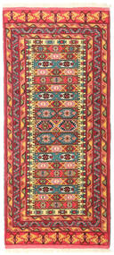 Turkaman Rug 85X186 Authentic Oriental Handknotted Dark Red/Rust Red (Wool, Persia/Iran)