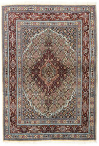 Moud Matta 100X145 Äkta Orientalisk Handknuten Mörkbrun/Beige (Ull/Silke, Persien/Iran)