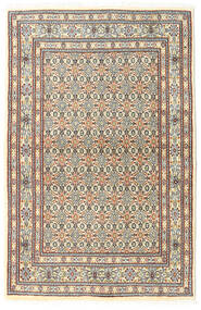 Moud Matta 92X142 Äkta Orientalisk Handknuten Mörkbrun/Beige (Ull/Silke, Persien/Iran)