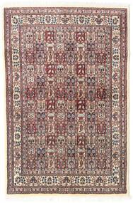 Moud Dywan 98X150 Orientalny Tkany Ręcznie Beżowy/Jasnoszary (Wełna/Jedwab, Persja/Iran)
