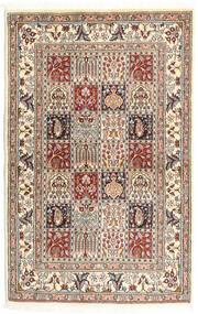 Moud Dywan 98X154 Orientalny Tkany Ręcznie Jasnoszary/Beżowy (Wełna/Jedwab, Persja/Iran)