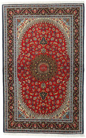 Ghom Kork/Silke Tæppe 138X217 Ægte Orientalsk Håndknyttet Mørkebrun/Sort (Uld/Silke, Persien/Iran)