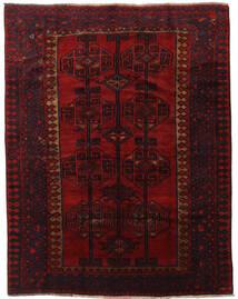 Lori Matta 191X242 Äkta Orientalisk Handknuten Mörkbrun/Mörkröd (Ull, Persien/Iran)