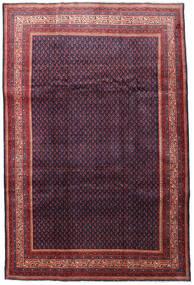 Sarough Mir Matta 215X322 Äkta Orientalisk Handknuten Mörkröd/Mörklila (Ull, Persien/Iran)