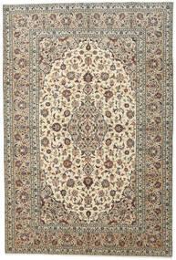 Keshan Teppe 198X292 Ekte Orientalsk Håndknyttet Lys Grå/Beige (Ull, Persia/Iran)