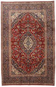 Keshan Teppich 192X298 Echter Orientalischer Handgeknüpfter Dunkelrot/Dunkelbraun (Wolle, Persien/Iran)