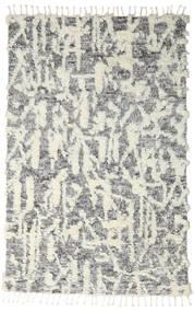 Barchi/Moroccan Berber - Indo Tapis 160X230 Moderne Fait Main Gris Clair/Gris Foncé/Blanc/Crème (Laine, Inde)