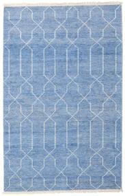 Bamboo Jedwab Handloom Dywan 160X230 Nowoczesny Tkany Ręcznie Niebieski/Jasnoniebieski ( Indie)