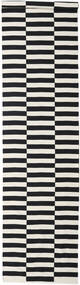 Moderno Rug 80X350 Authentic  Modern Handwoven Hallway Runner  Black/Dark Beige (Cotton, India)